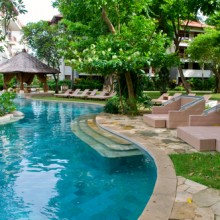 Swimming pool of tropical resort