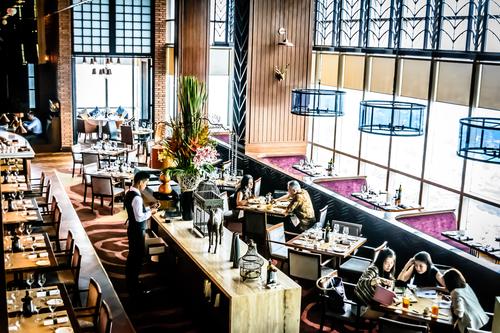 modern contemporary High class fine dining restaurant interior